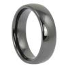 Black Polished Ceramic Mens Ring
