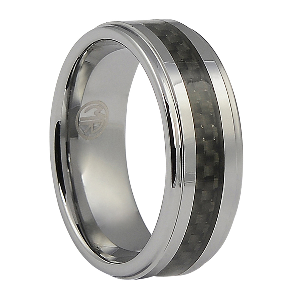 FTR-010-Tungsten Ring With Carbon Fibre Centerline