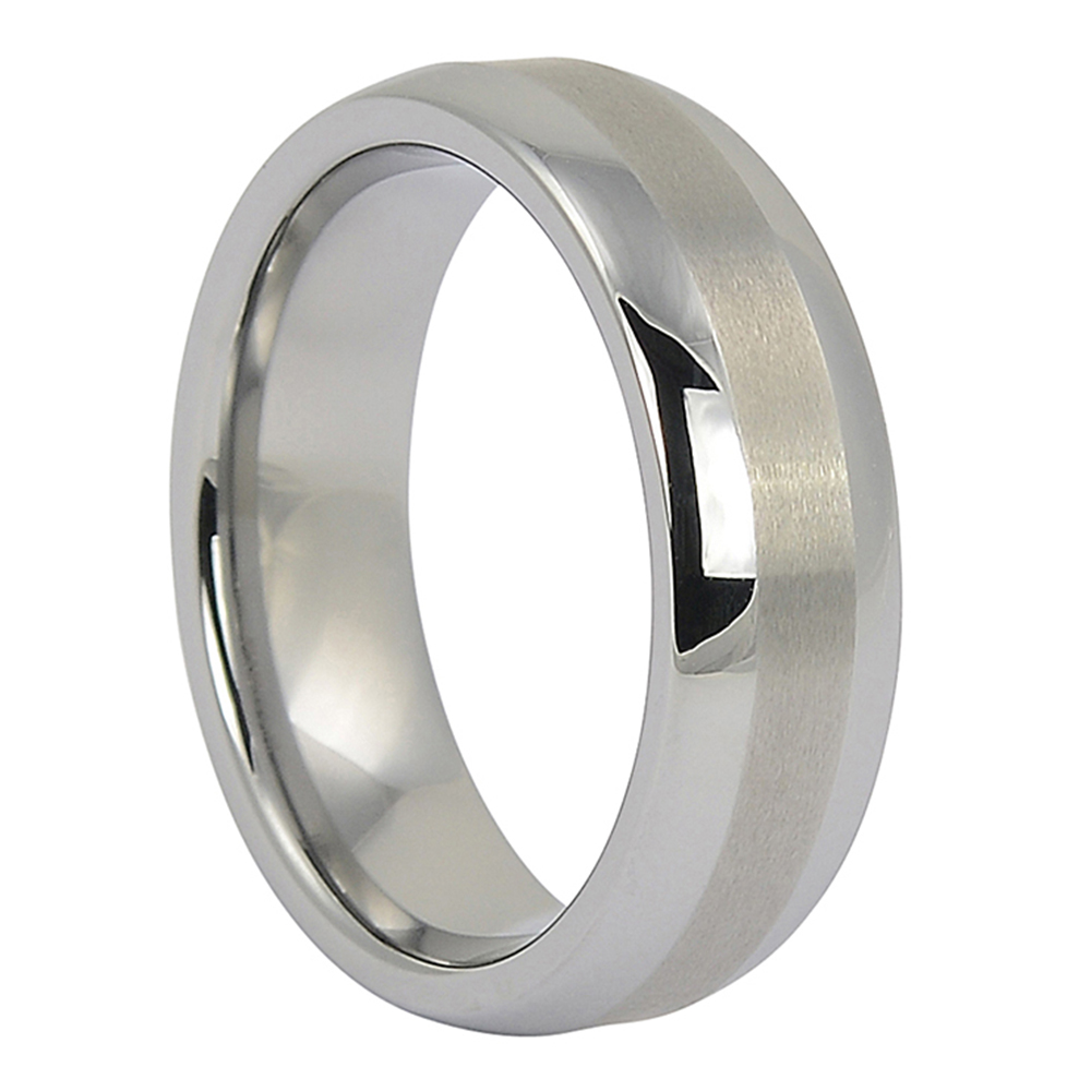 FTR-018 – Satin Centreline Tungsten Mens Ring