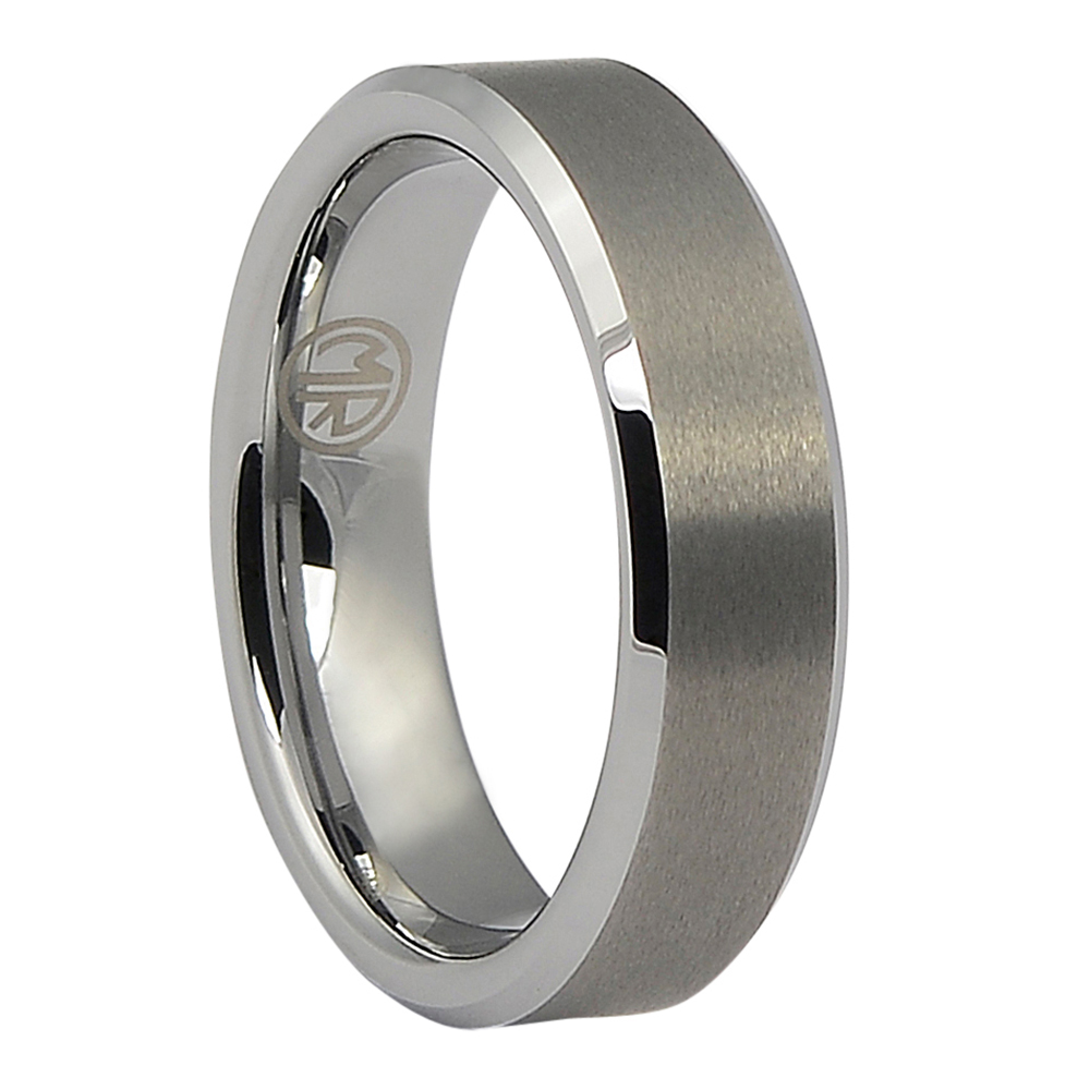 FTR-019-Mens Brushed Tungsten Wedding Ring