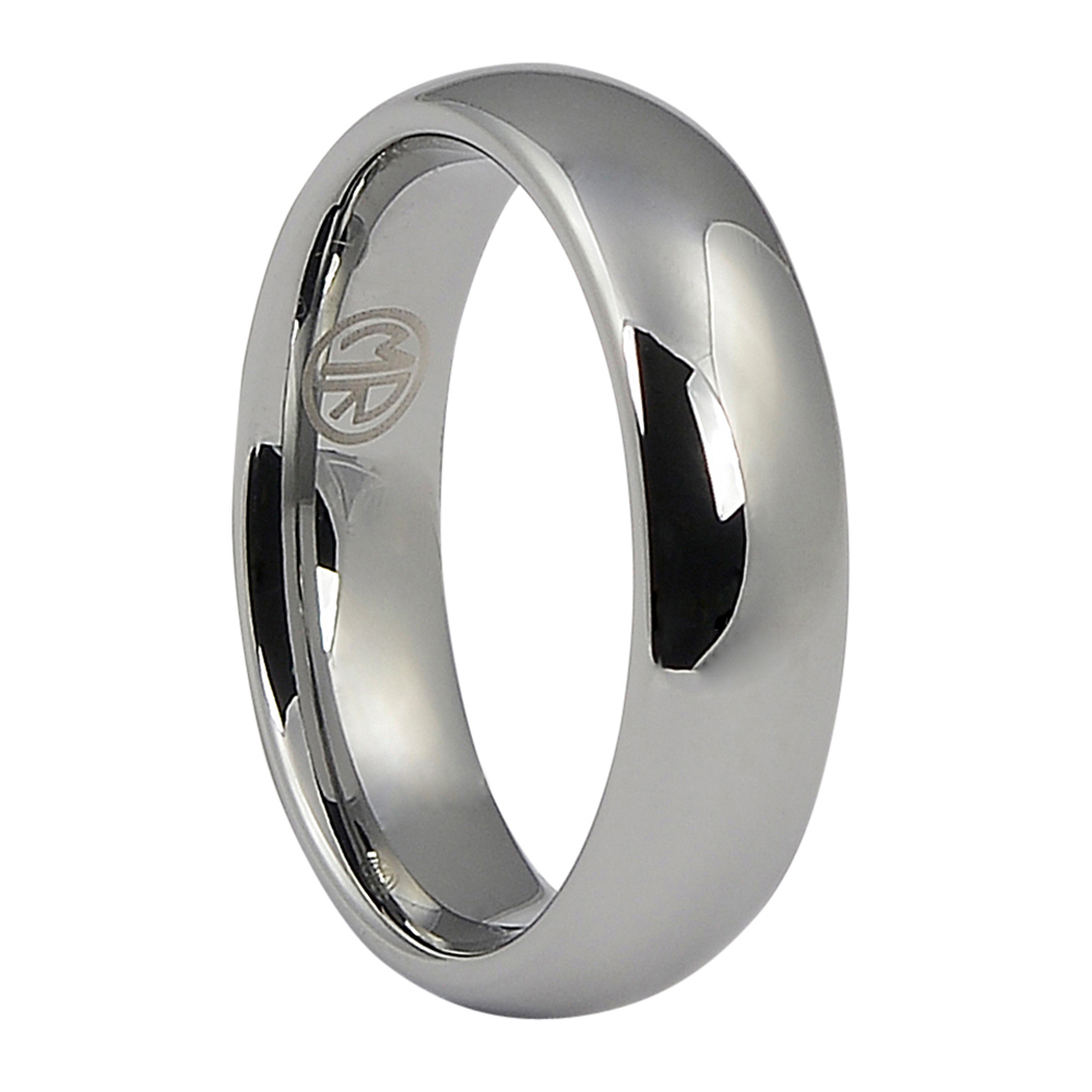 High Polished Mens Tungsten Wedding Ring