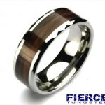 Woodgrain Tungsten Ring