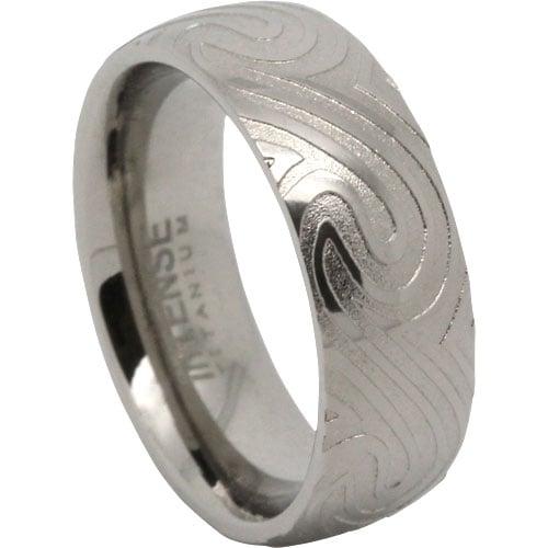 Wave Titanium Ring