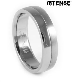 Dual Finish Titanium Ring