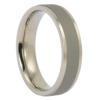 Dark Brushed Titanium Mens Wedding Ring