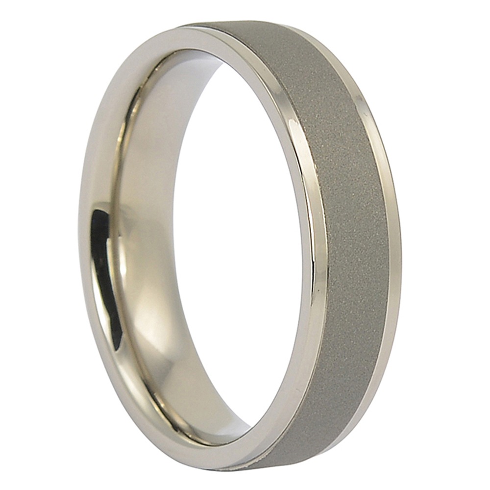 ITR-062 – Dark Brushed Titanium Mens Wedding Ring