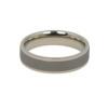 Dark Stone Brushed Titanium Ring Flat