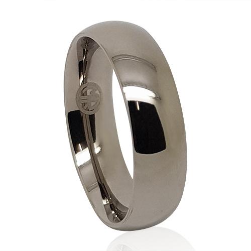 275c7361a Titanium Polished Mens Wedding Band