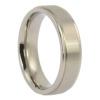 ITR-067 - Raised Centre Brushed Titanium Mens Wedding Ring