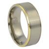 Mens Titanium Ring with Gold Edge