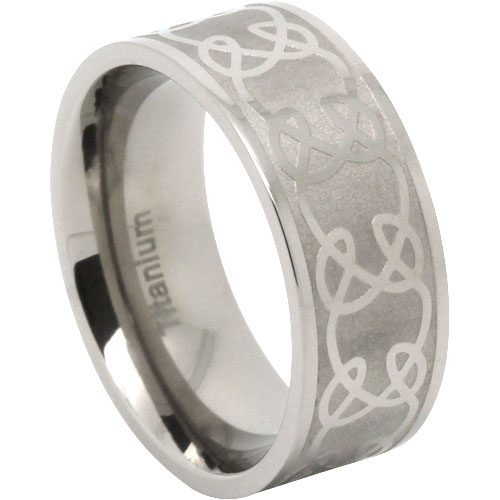 Wide Celtic Titanium Ring