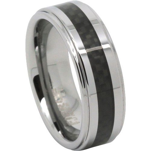 Carbon Fibre Tungsten Wedding Ring