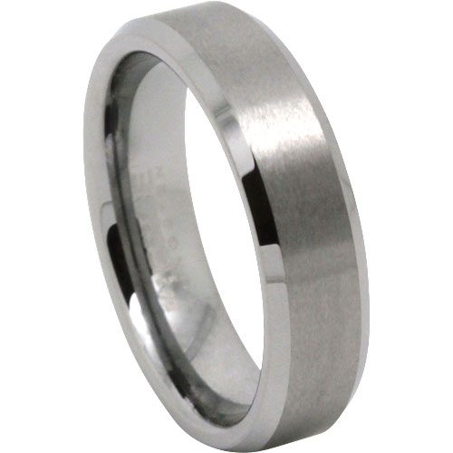 Brushed Mens Tungsten Wedding Ring