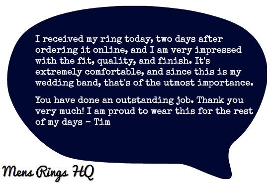 Mens Rings Testimonial