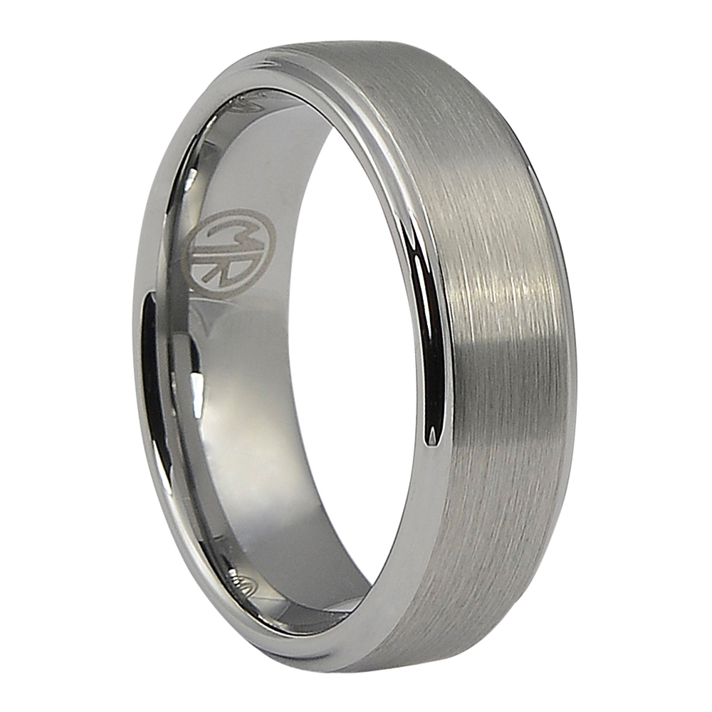 FTR-038-Tungsten 7mm Mens Ring with Brushed Finish