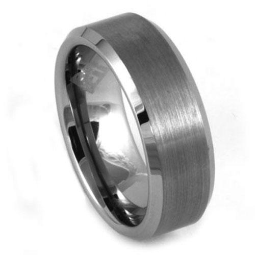 Wide Mens Tungsten Wedding Ring