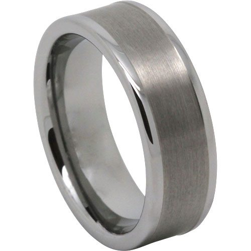 Wide Mens Tungsten Wedding Ring