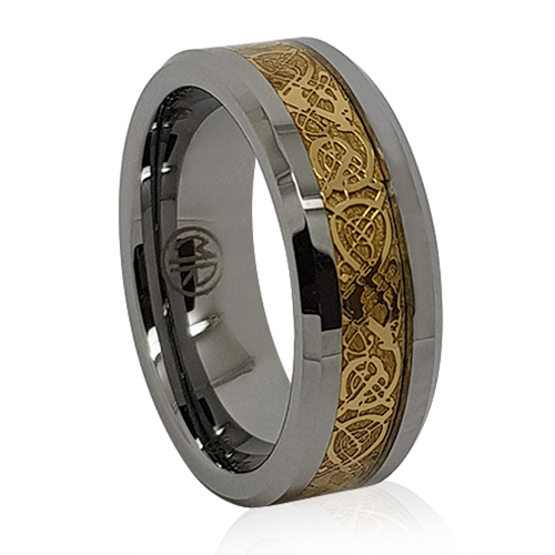 Mens Wedding Rings Australia: Unique Tungsten And Gold Mens Ring