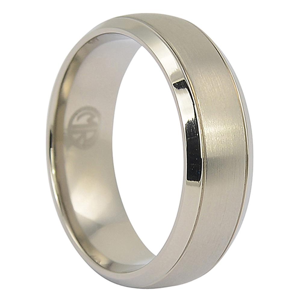 ITR-077-Titanium Mens Wedding Ring