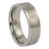Titanium Ring with Unique Edge