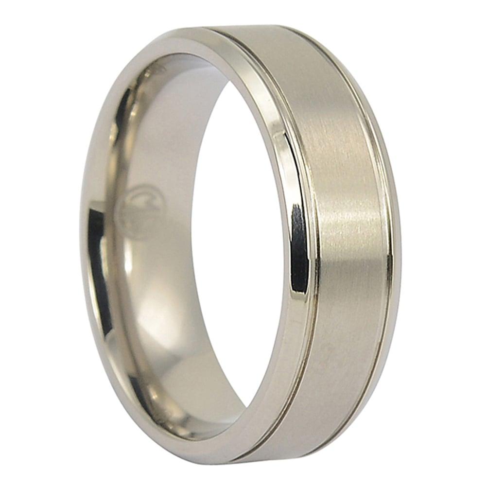 ITR-086-Titanium Ring with Polished Edges