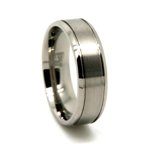 Brushed Titanium Ring