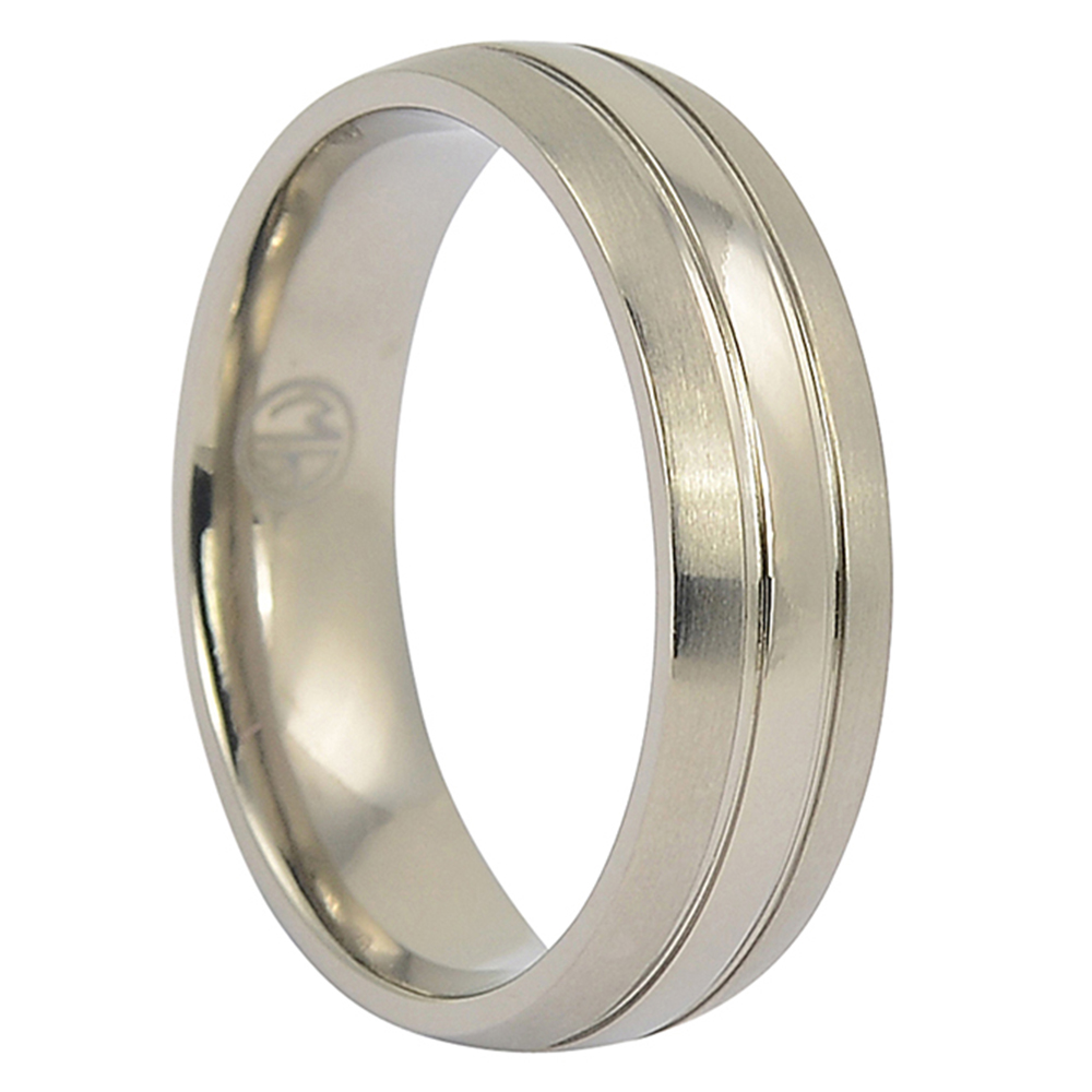 ITR-105-Dual Finish Titanium Ring
