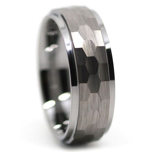 Mens Unique Tungsten Ring