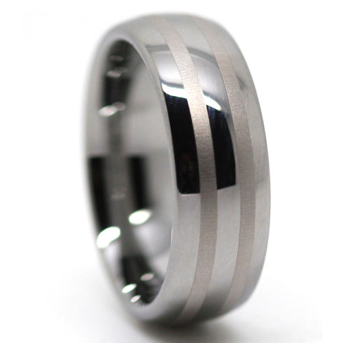 Rounded Tungsten Wedding Ring