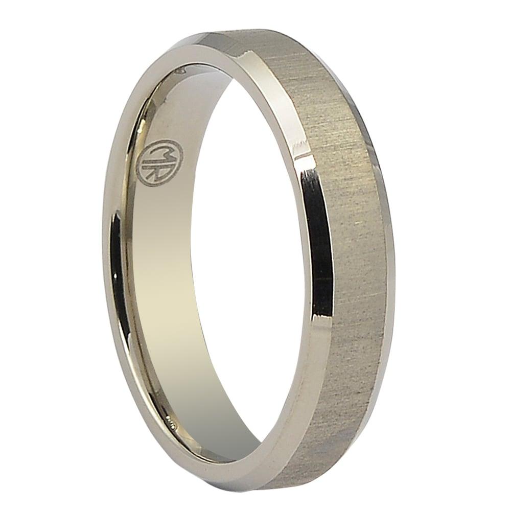 Mens Wedding Ring.Titanium Thin Mens Wedding Ring Brushed Finish