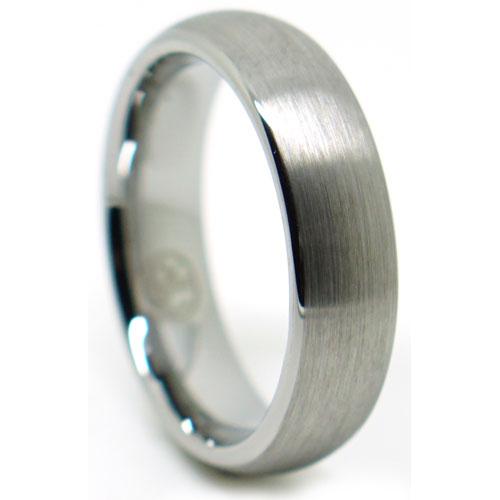 Mens Brushed Tungsten Ring
