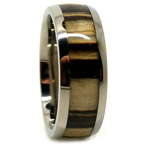 Titanium Koa Wood Ring