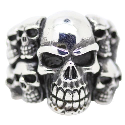 Cluster Skull Mens Ring