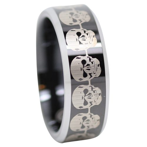 Black Skull Tungten Ring