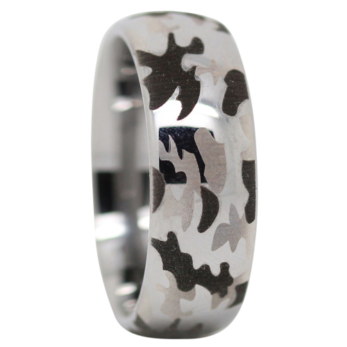Tungsten Camo Mens Ring