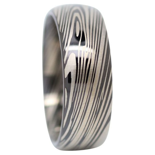 Black Nebula Tungsten Mens Ring