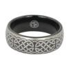 Black Celtic Mens Tungsten Ring