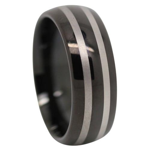 Black Tungsten Mens Ring
