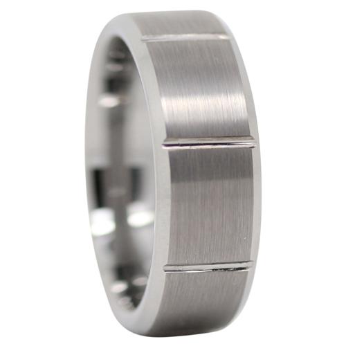 Brushed Tungsten Mens Wedding Ring