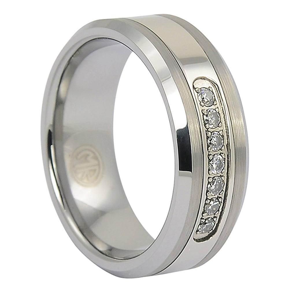 FTR-083-Tungsten Mens Engagement Ring