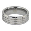 Mens Grooved Tungsten Ring-2