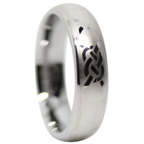 Mens Tungsten Celtic Ring
