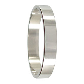 4mm Flat Platinum Wedding Ring