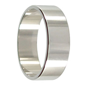 7mm Mens Platinum Wedding Ring