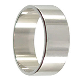 8mm White Gold Mens Wedding Ring