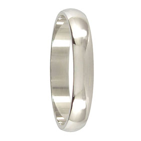 4mm White Gold Wedding Band