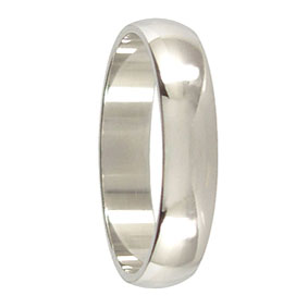5mm Platinum Mens Wedding Ring