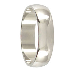 6mm Platinum Mens Wedding Ring
