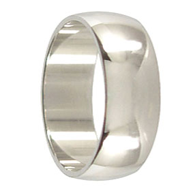 8mm White Gold Wedding Ring