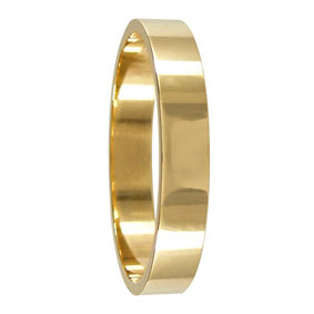 4mm Yellow Gold Flat Wedding Band